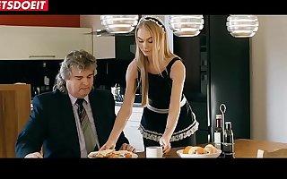 LETSDOEIT - Stunning Blonde Gal Gets Fucked In the matter of SchoolGirl Uniform (Nancy A)