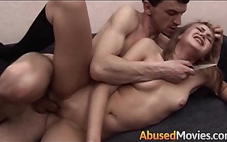 Blonde Teen Apartment Neighbour Made-up Fucked