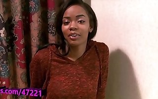 Atlanta college inclusive Sinnamon plays with her pretty pussy
