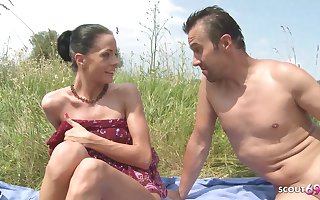 Slim Nudism Teen Seduce roughly Beach Ass Sex by Stranger Voyeur