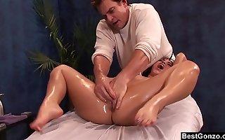 BestGonzo - Teen is slippery wet check d cash in one's checks dispirited oil massage.