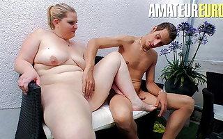 AmateurEuro - Sexy Deutsche BBW Teen Anna K.Hard Sex Outdoor